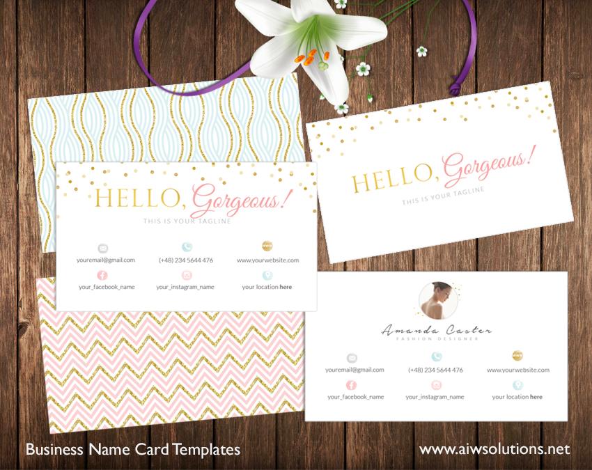 girly namecard template