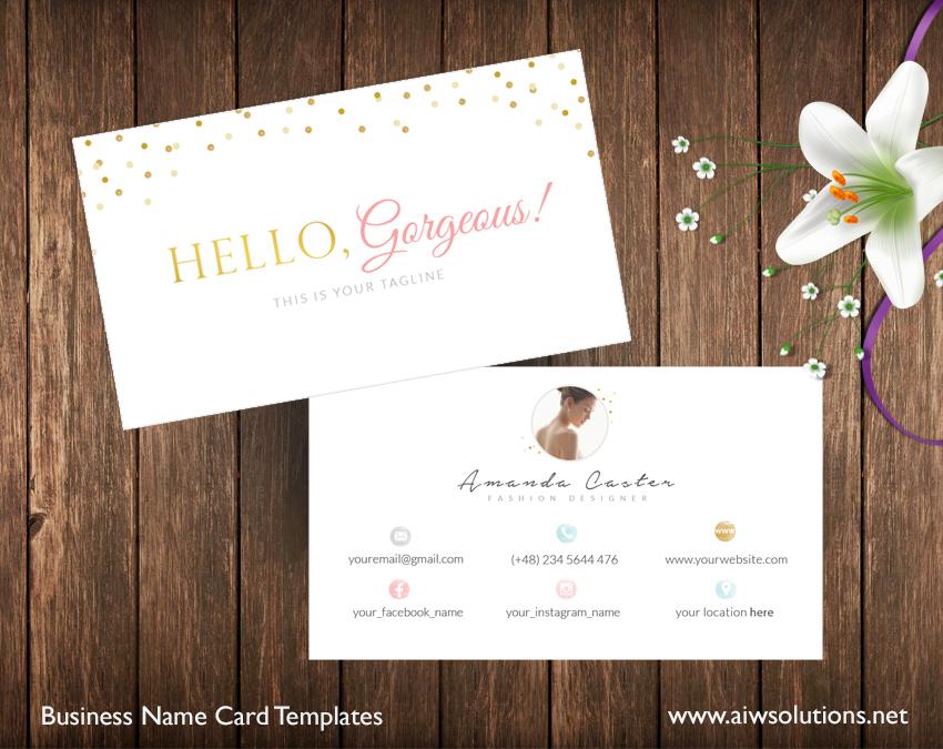 minimal namecard template