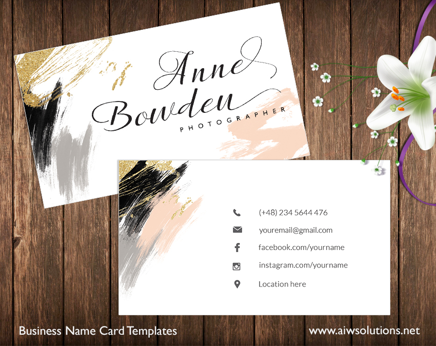 Premade business card template name card template photography name home shop templates business card cheaphphosting Choice Image
