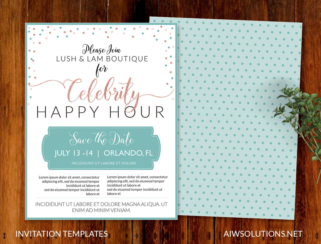 invitation template happy hour template
