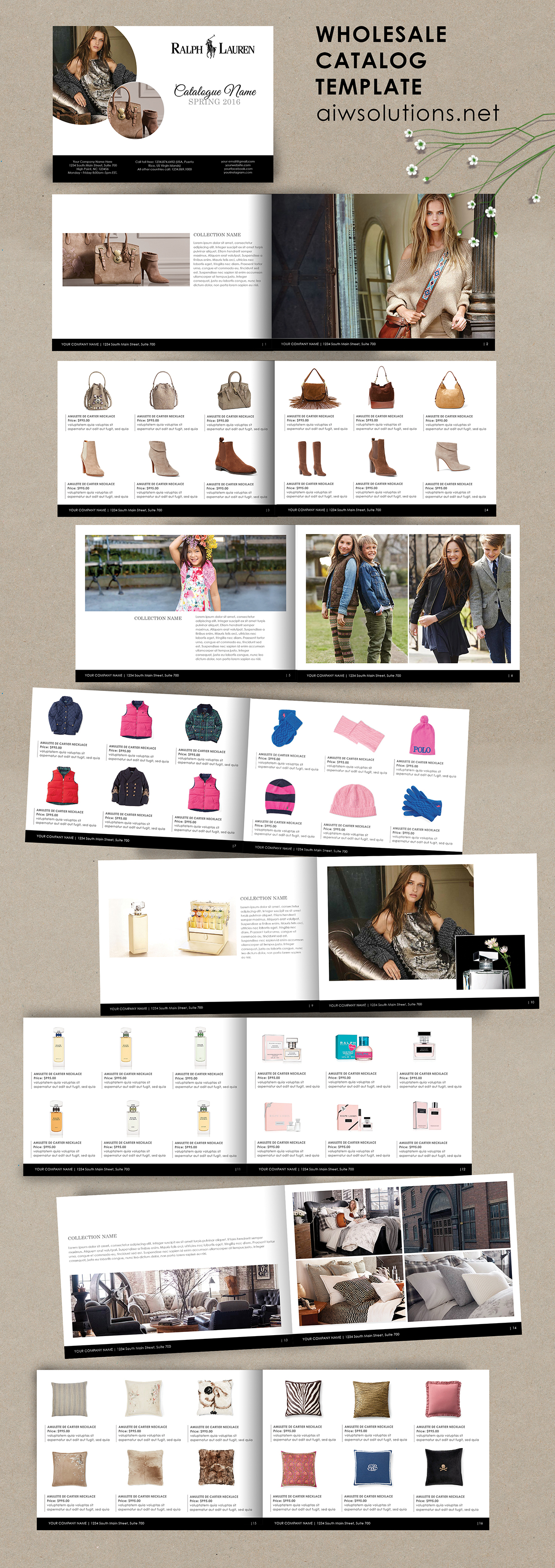 wholesale catalog template product template