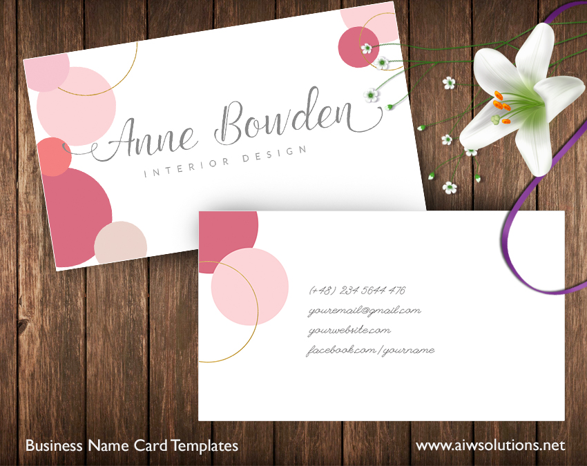 Pink light pink glitter gold name card template home shop templates business card colourmoves