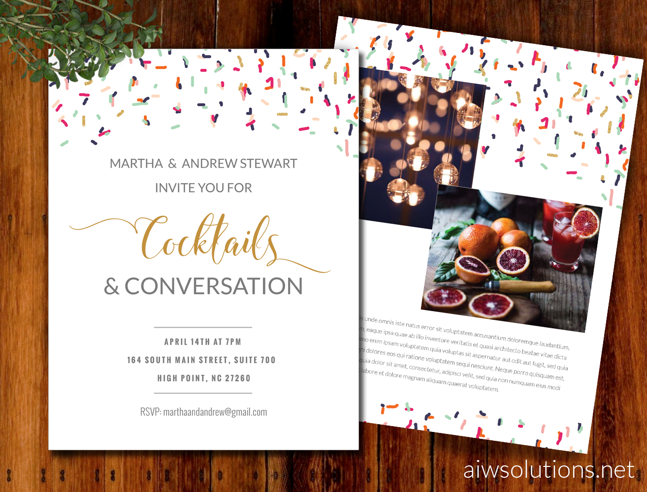 flyer templatet invitation template