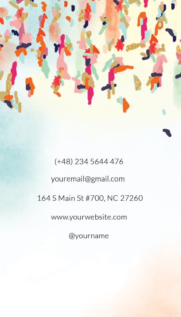 interior designer hair artist paint artist namecard template