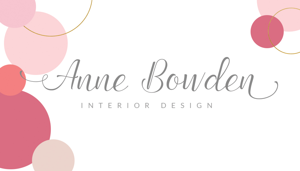 namecard template front-pink gold