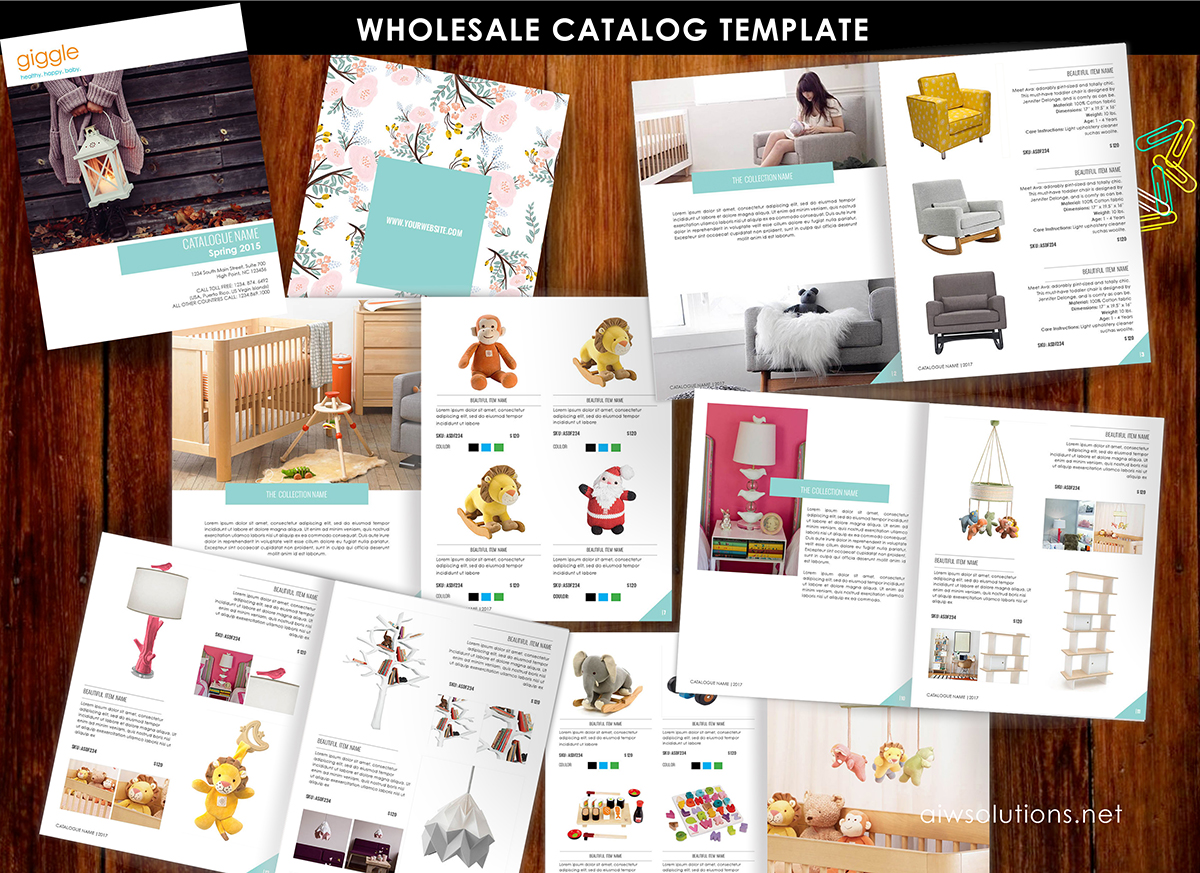 product catalog template for hat catalog, shoe catalog template, hand bag template, accessory ...
