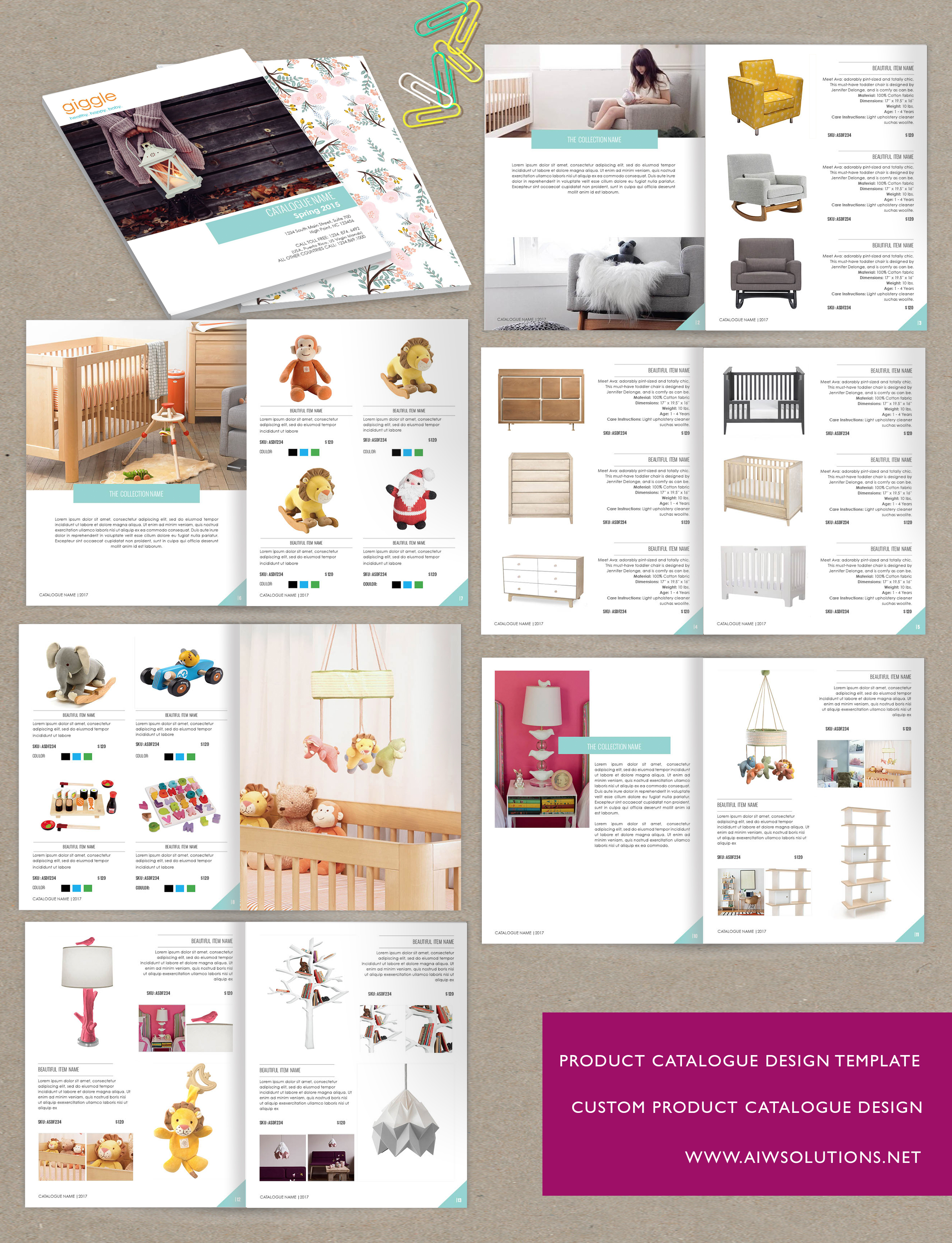 product catalog template for hat catalog, shoe catalog ...