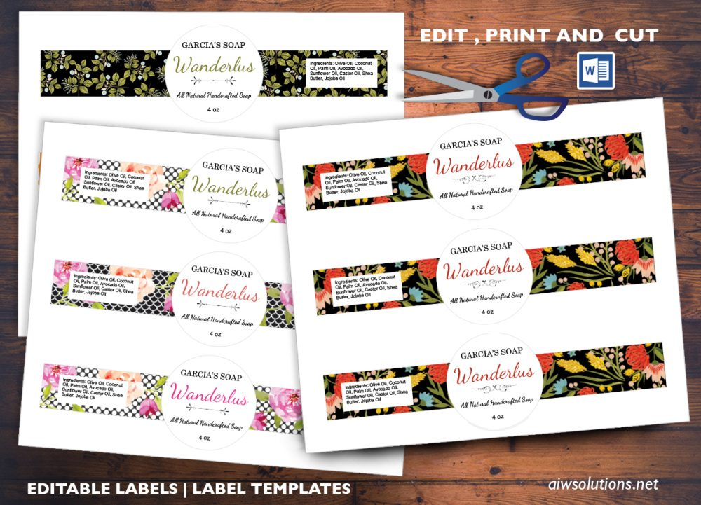 edit pint and cut sticker template  editable label template