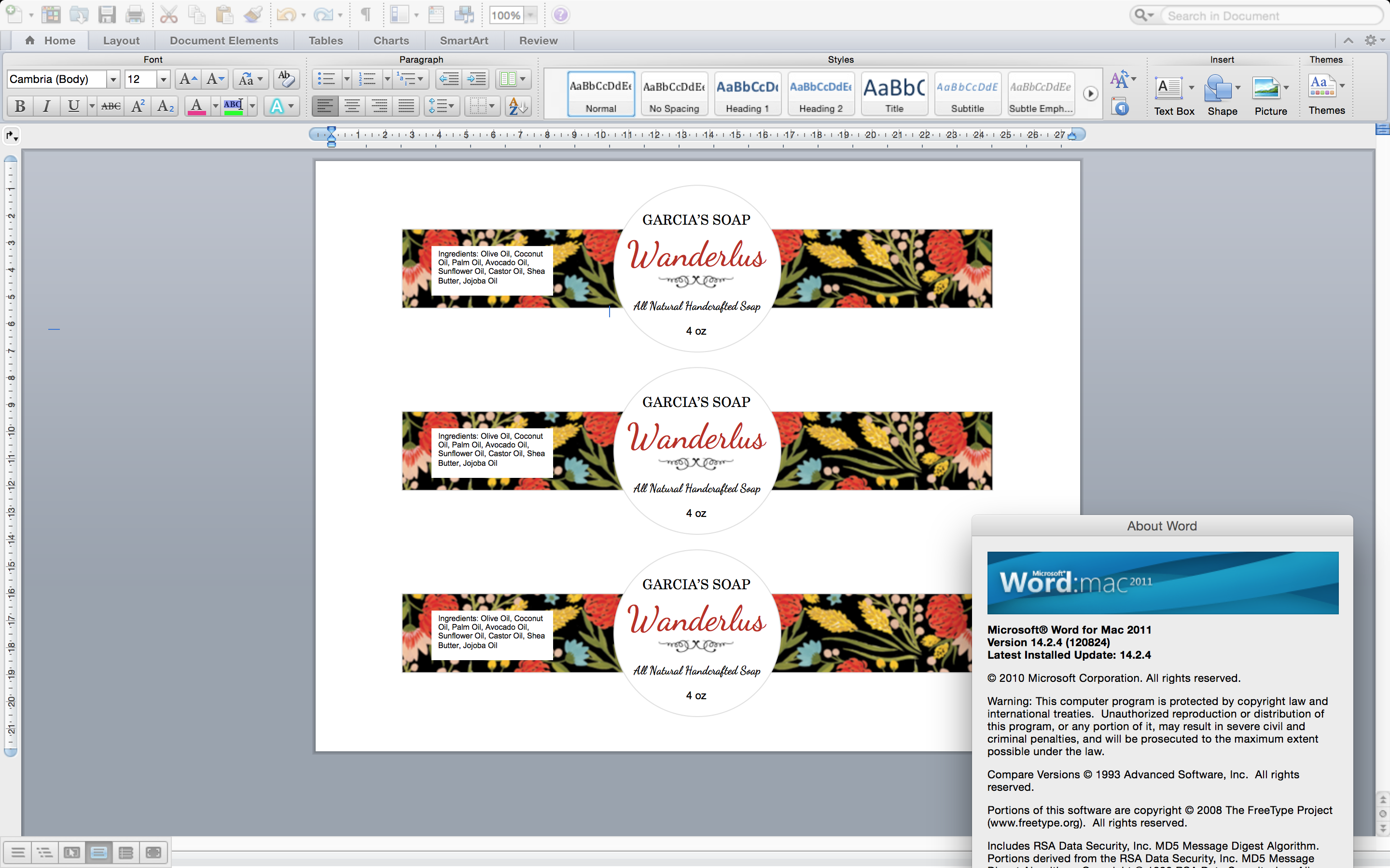 ms word label template screen shot 2016 12 13 at 100809 pm