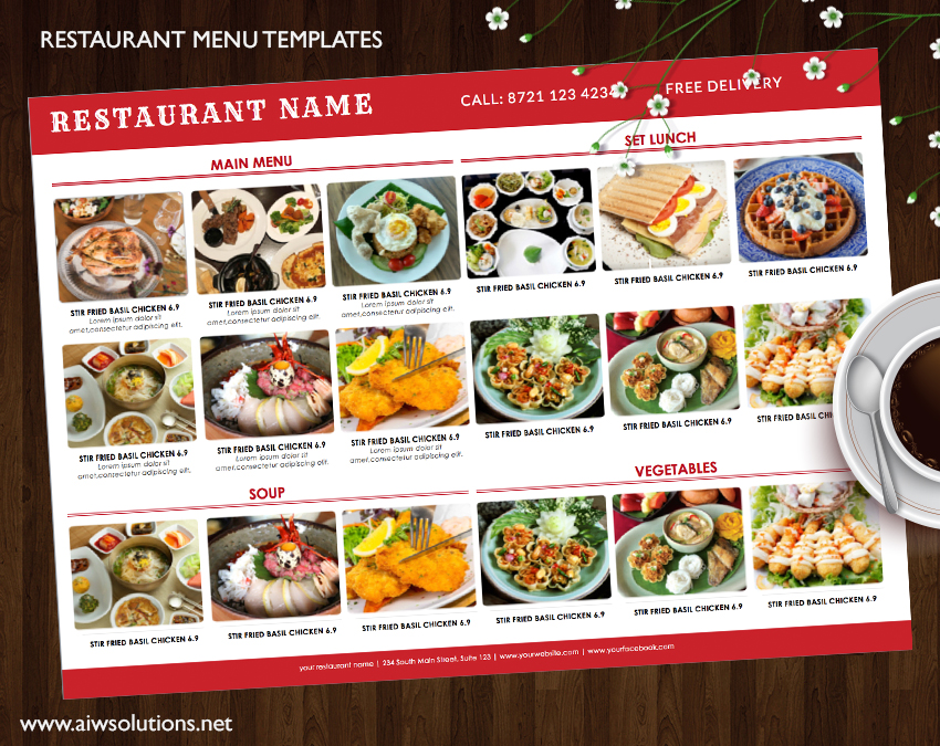 Design Templates Menu Templates Wedding Menu Food Menu Bar - Delivery menu template