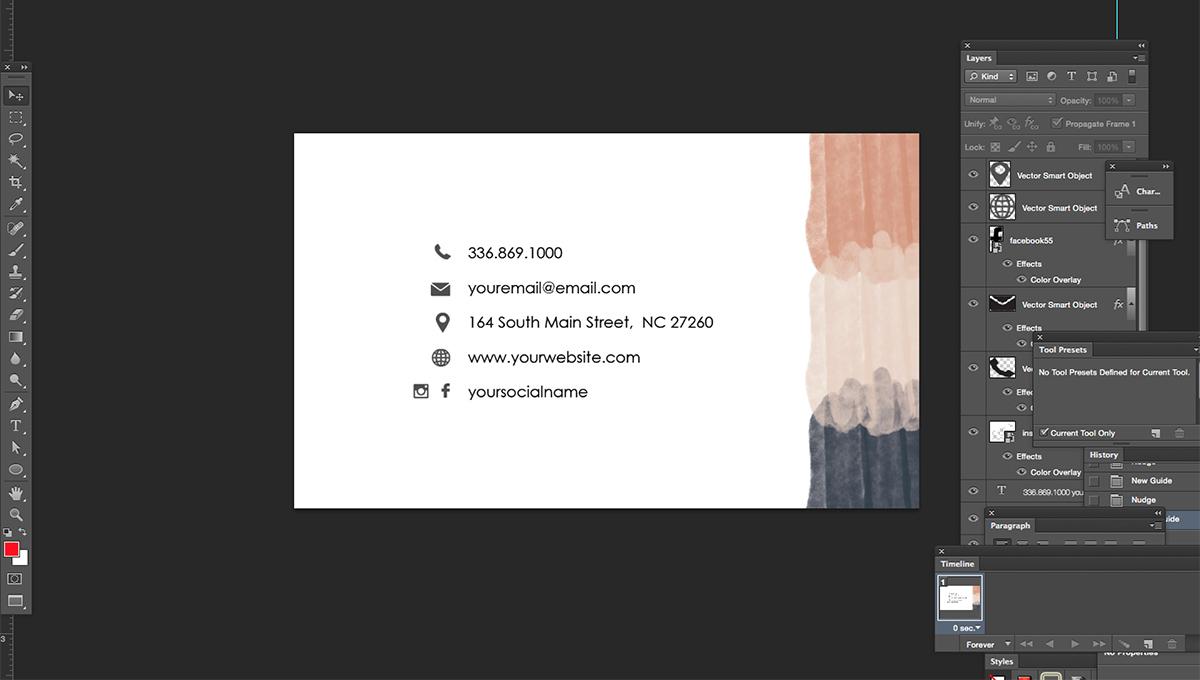 Nail salon name card template