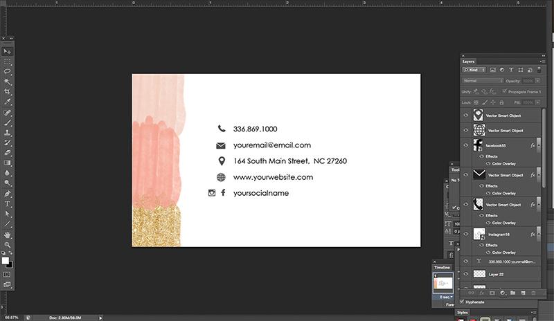 Nail salon name card1