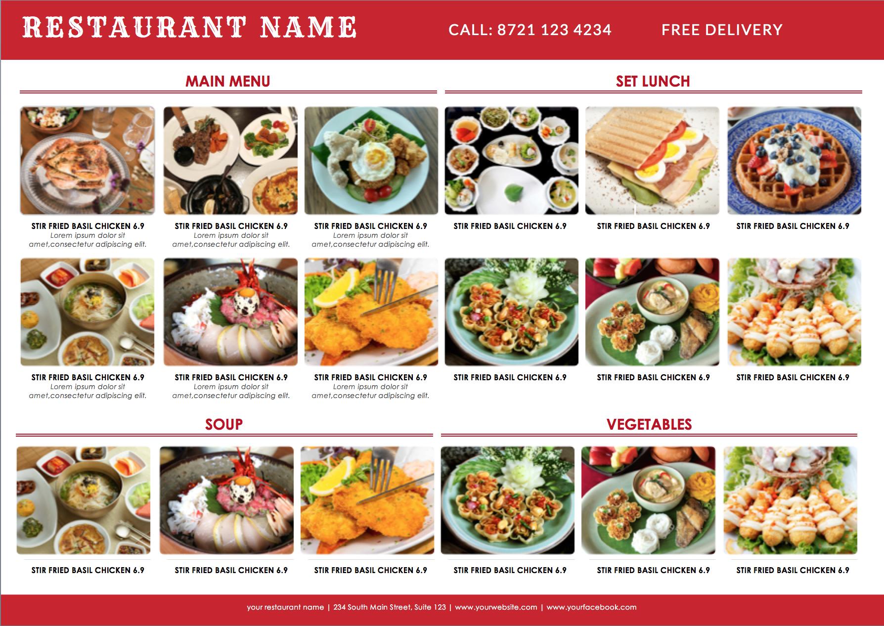 THAI MENU KORIA MENU ASIA FOOD