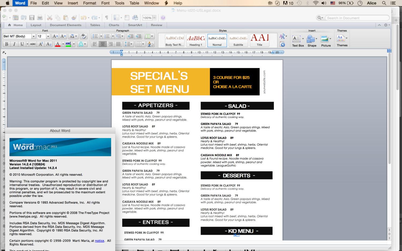 asia restaurant menu template