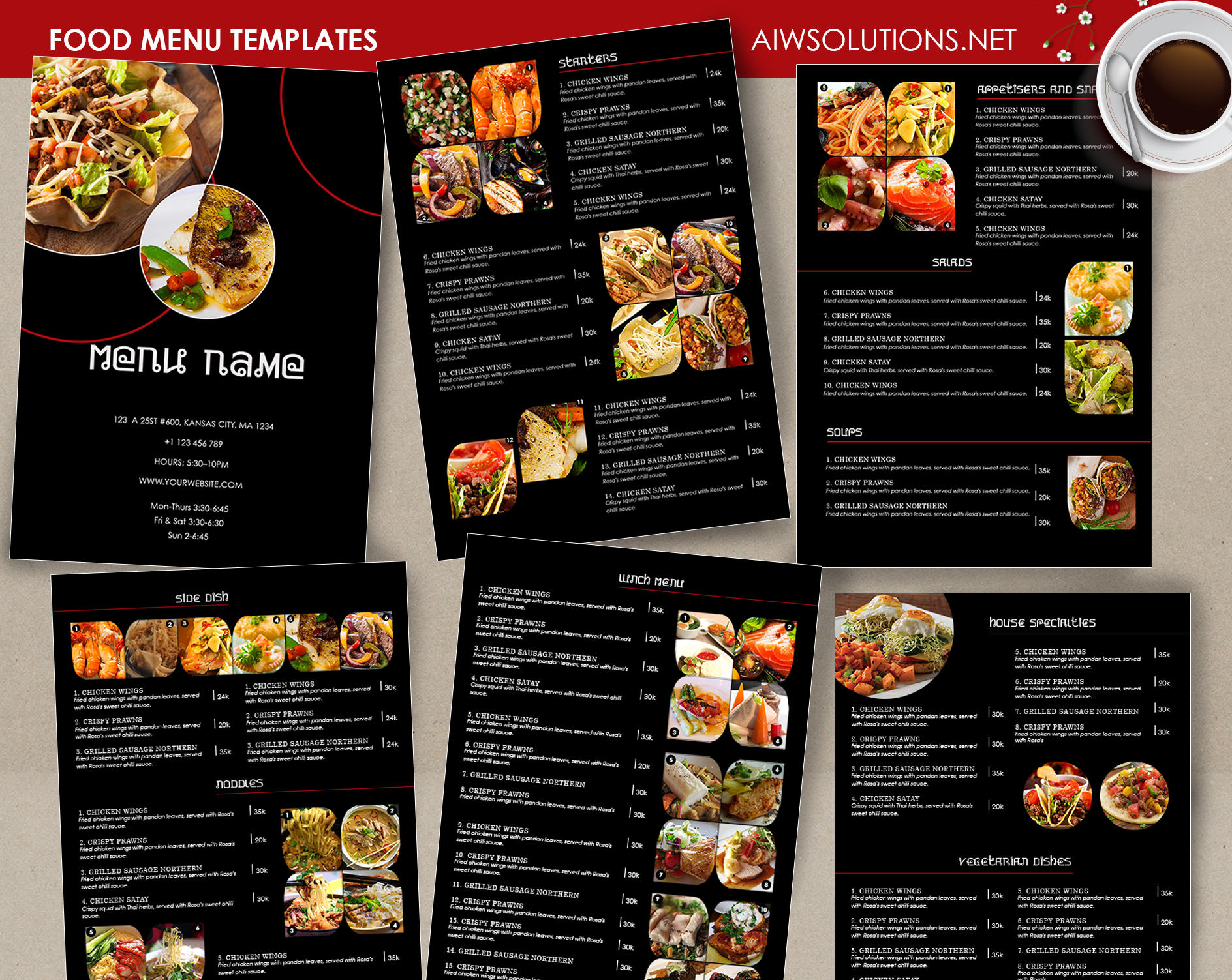 Design templates menu templates wedding menu food for Cuisine restaurant
