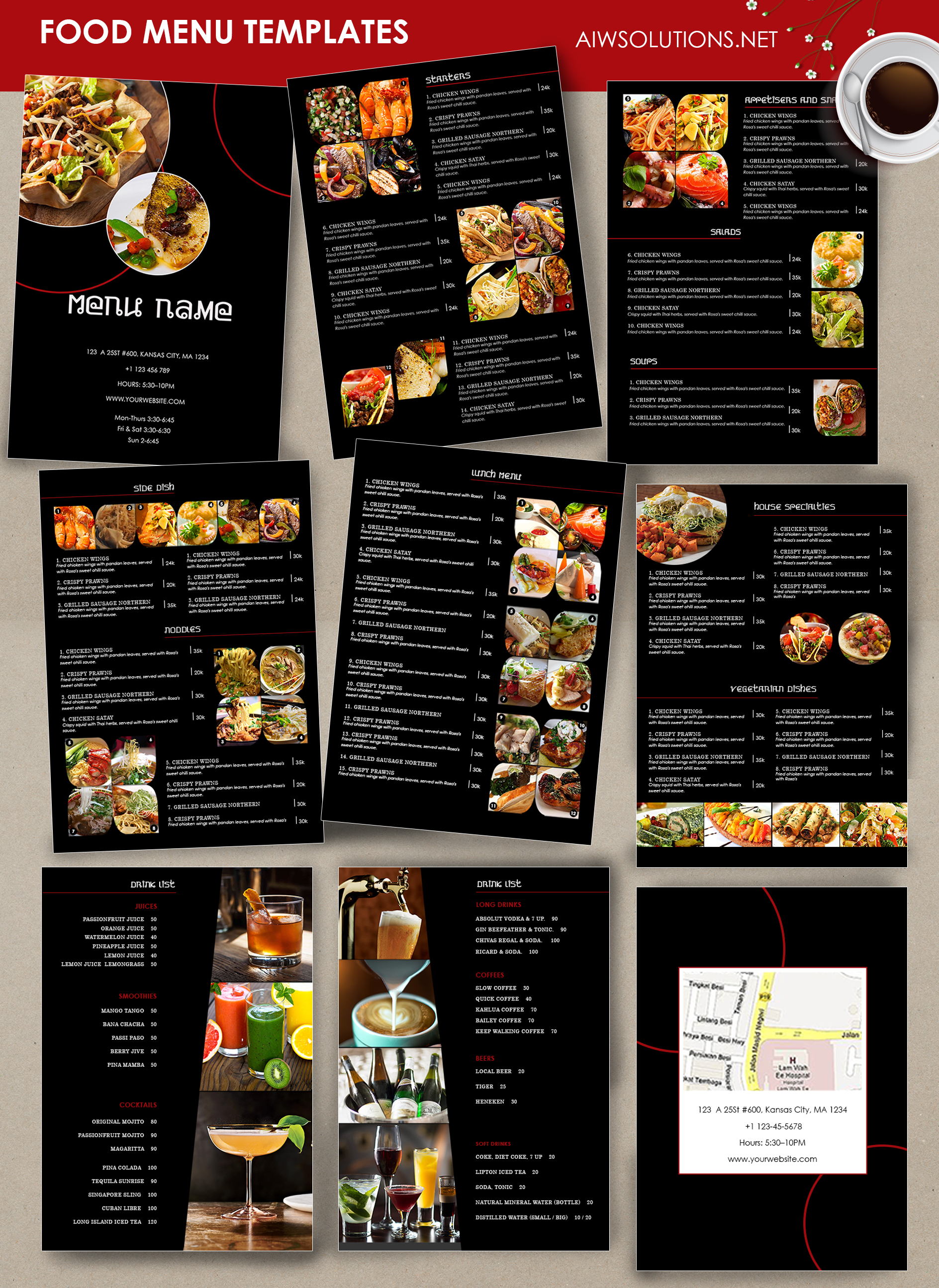 Cool Restaurants Menu