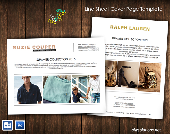 liNE sheet coverpage template