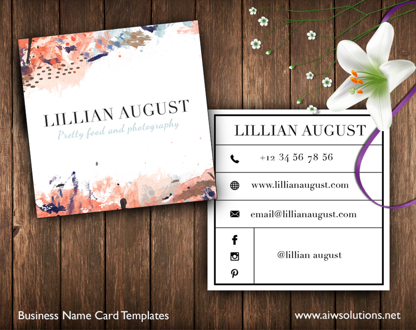 Square-Business name card-calling card