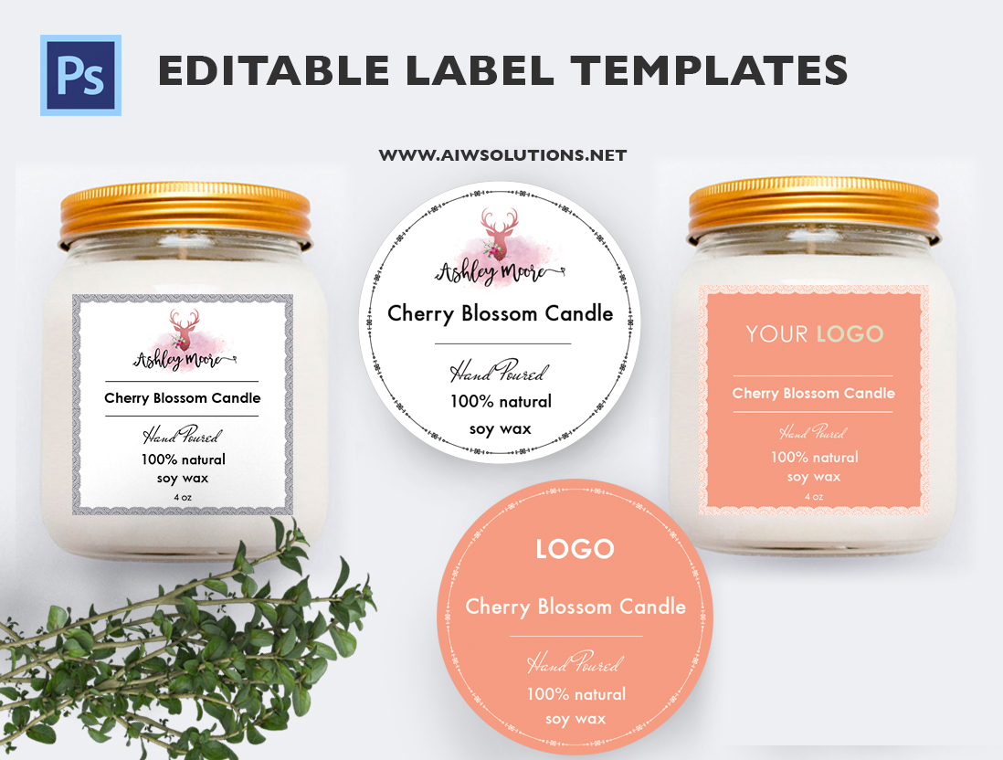 Label template id12 aiwsolutions candle label editable template pronofoot35fo Images