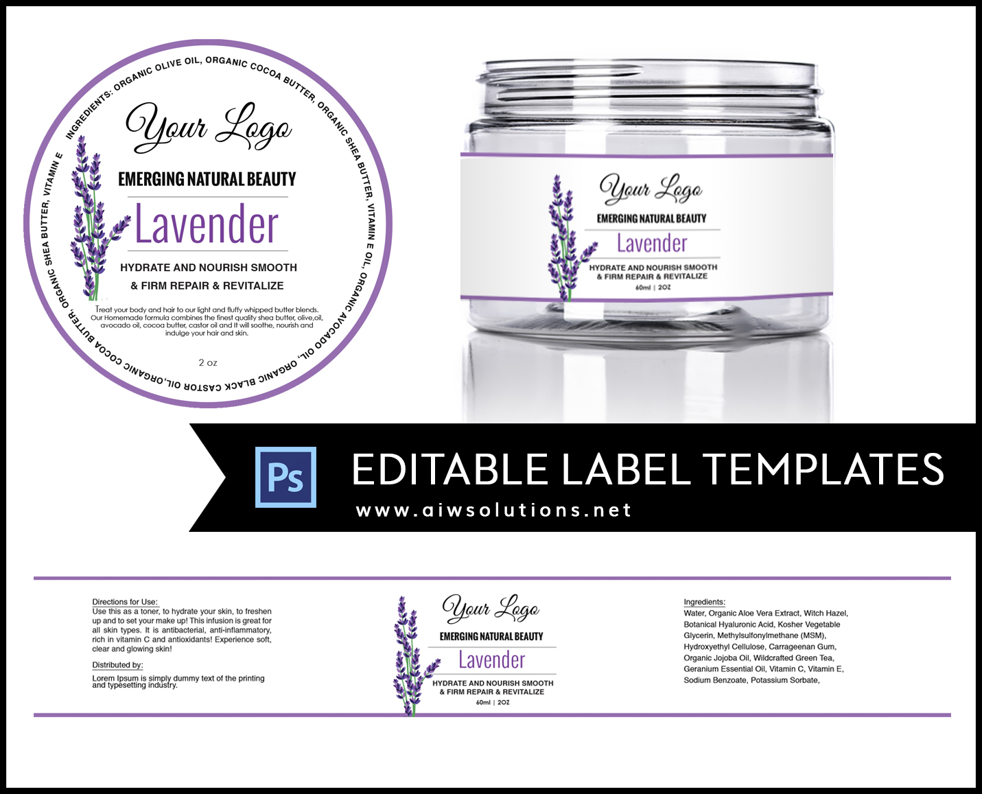 Label template id11 aiwsolutions for Cosmetic label templates