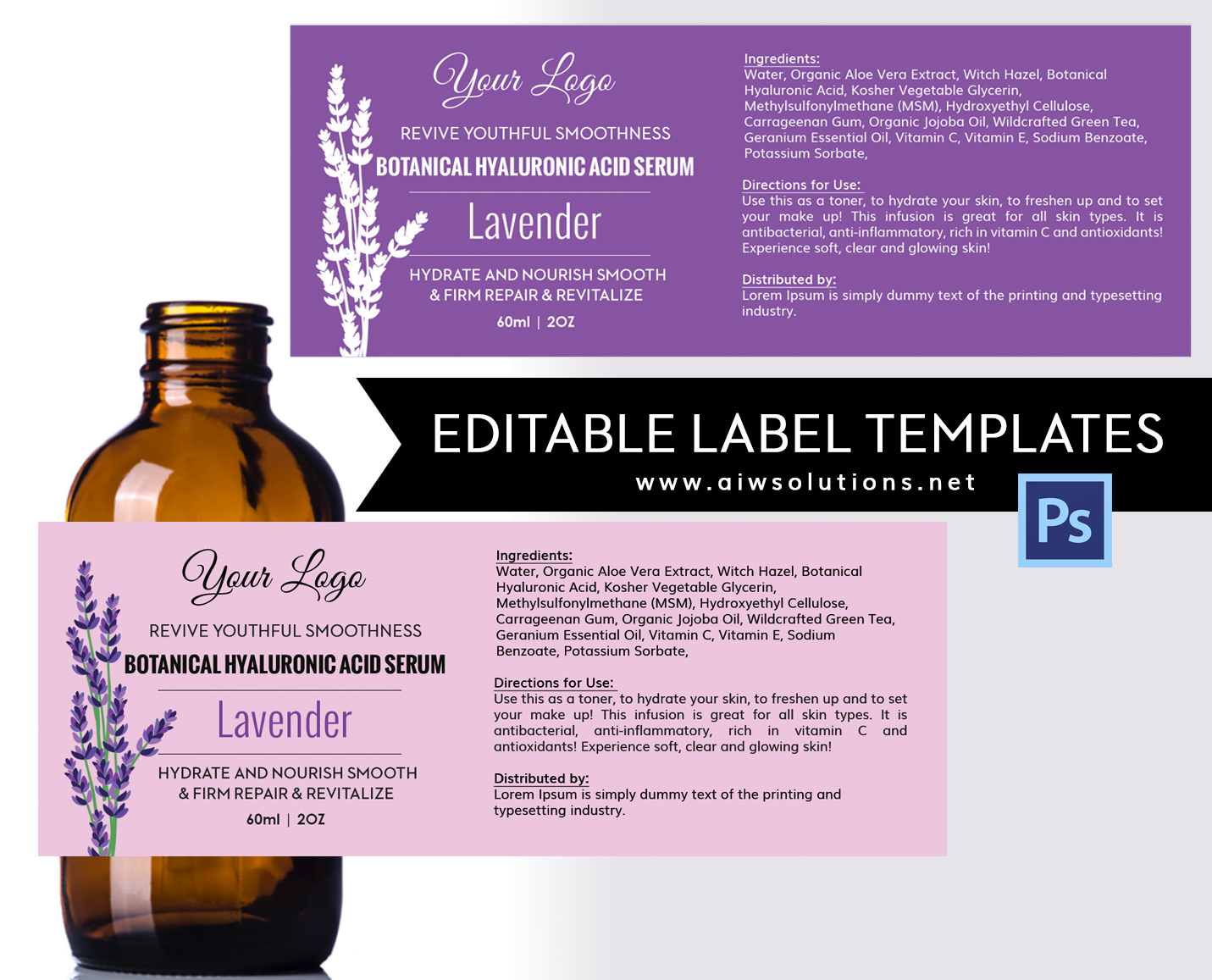 Lavender label id08 aiwsolutions labeltemplate 2oz amber glass boston pronofoot35fo Images