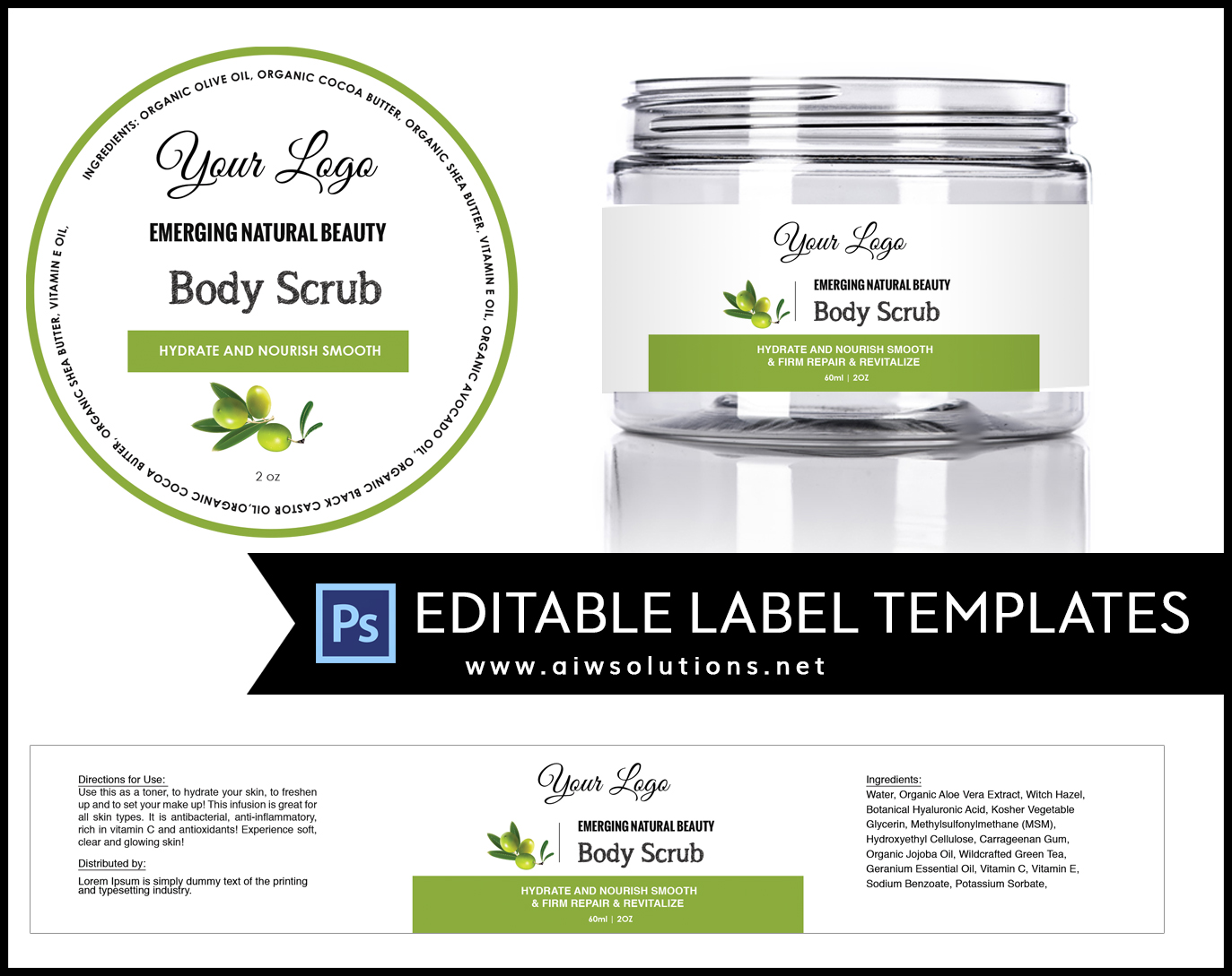Label template ID17 aiwsolutions