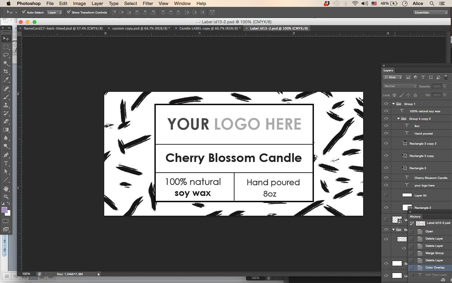 label template id13
