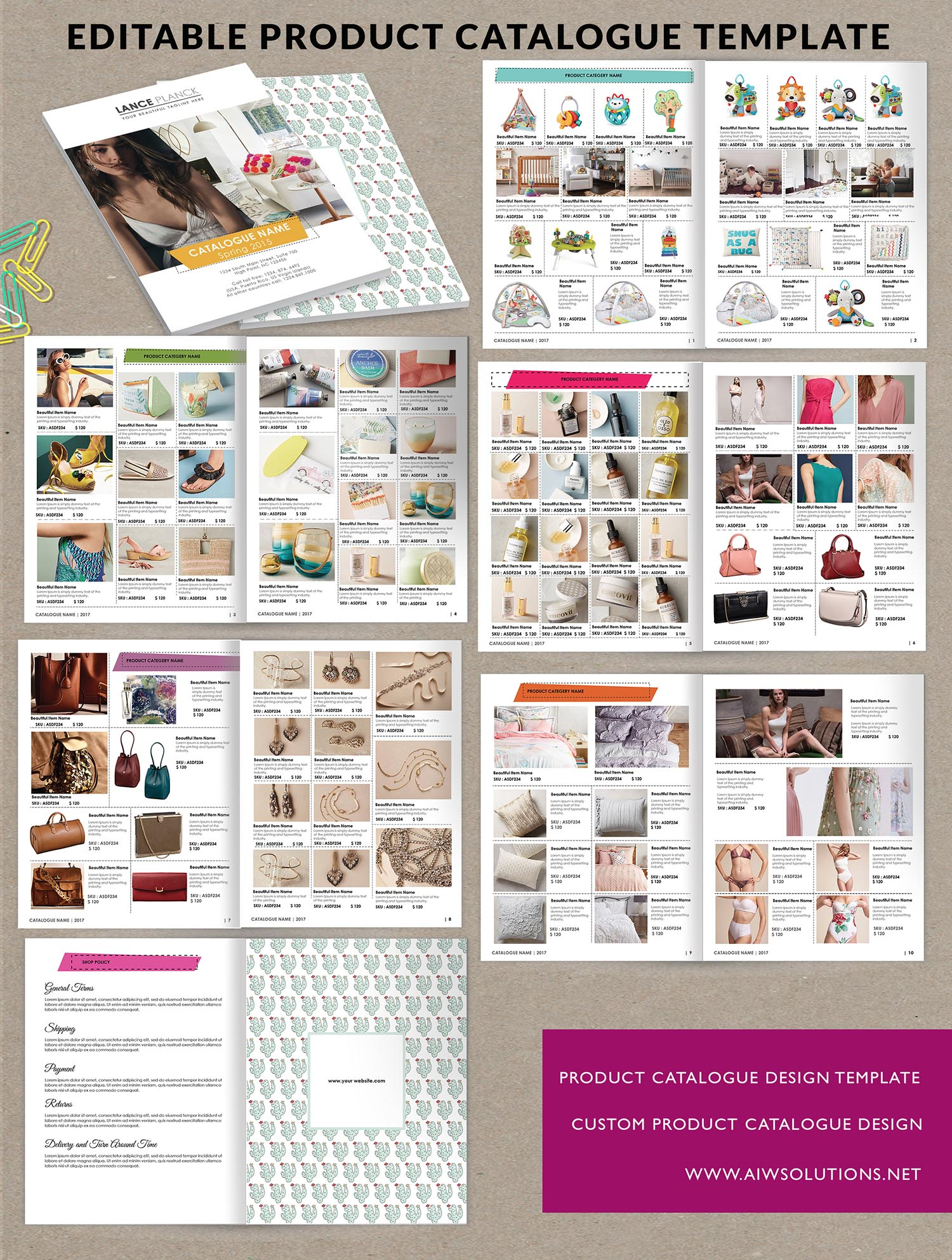 Product catalog template for hat catalog shoe catalog for Free templates for catalogue design