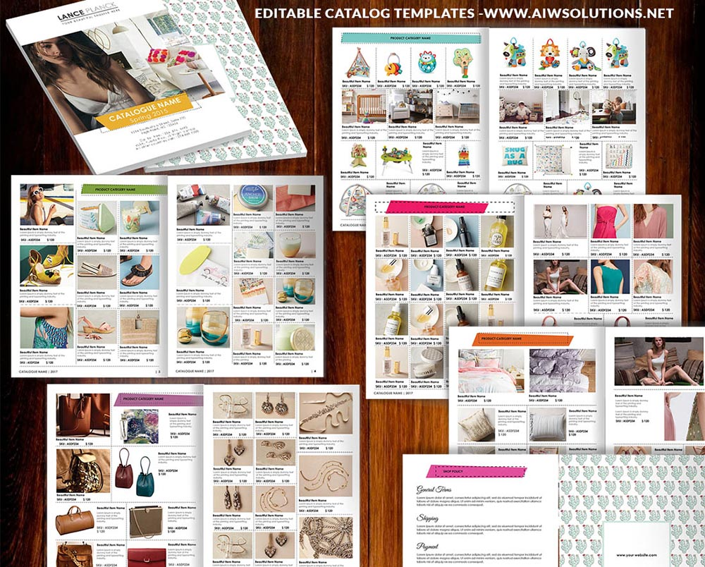 Fashion magazine pages layout