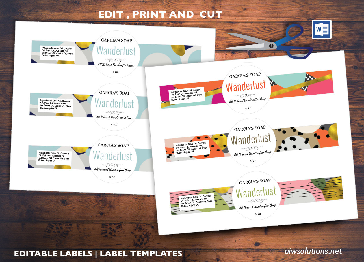 edit pint and cut sticker template. editable label template