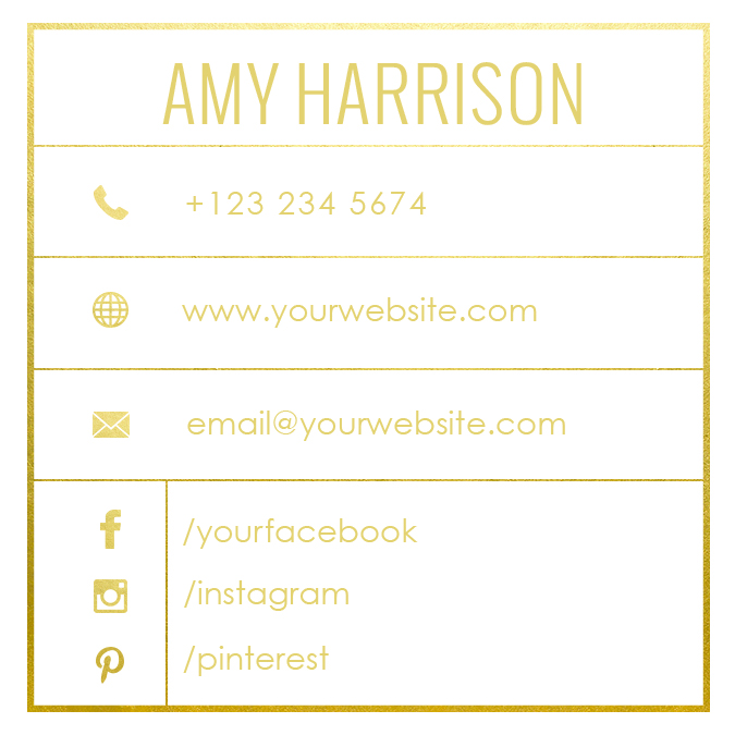 square name card templatejpg