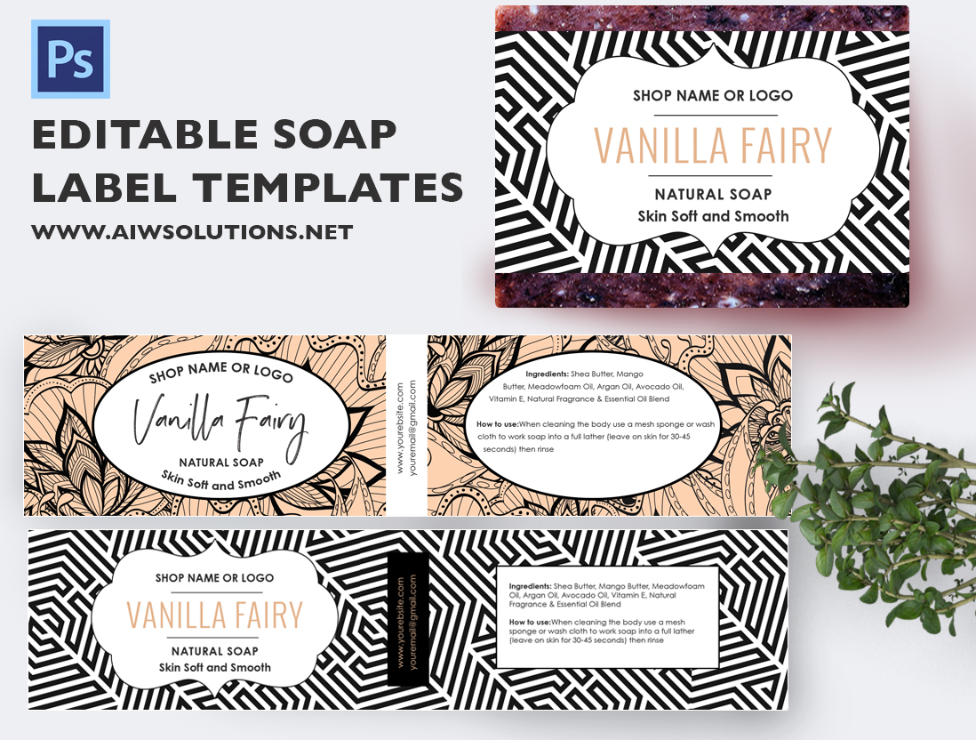Soap Label Template ID22 | aiwsolutions