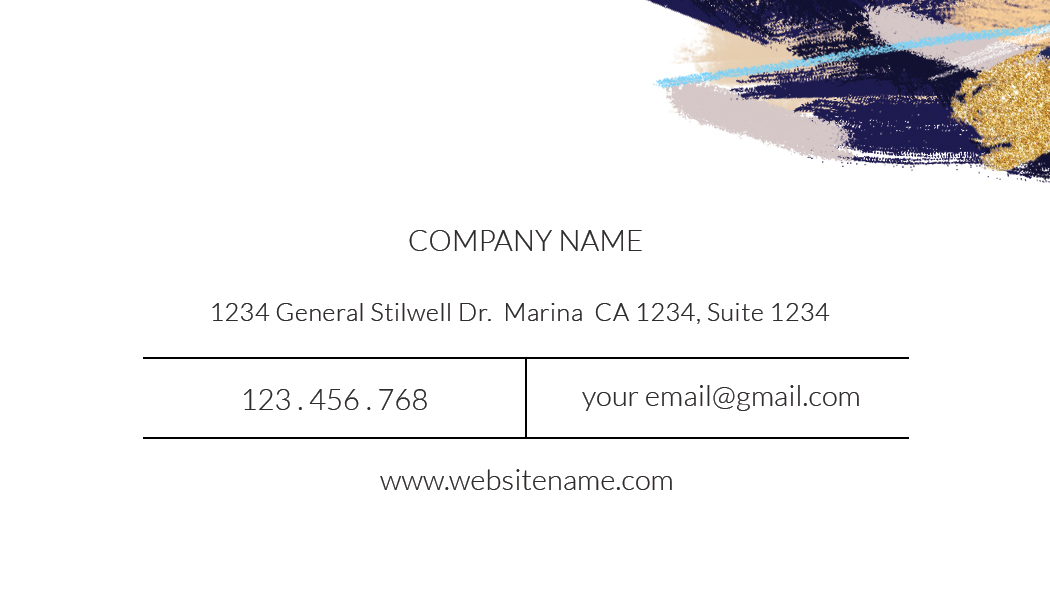 blue abtract name card template