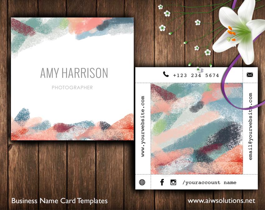 Abtract art namecard