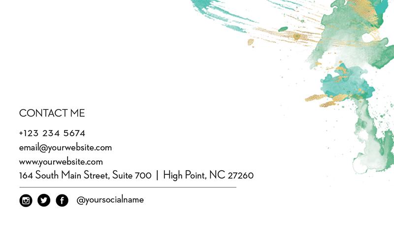 BackCard-ID41 mint name card template