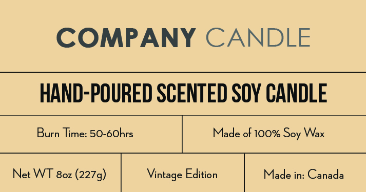 Candle label template