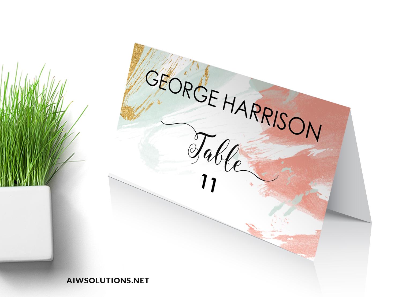 Escort Card wedding template