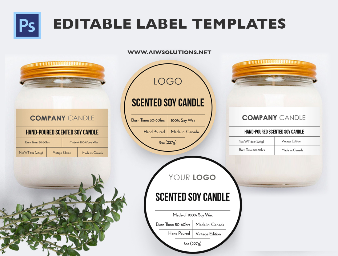 Candle Label Bernardin Jar Labels Bottlelabels Candy
