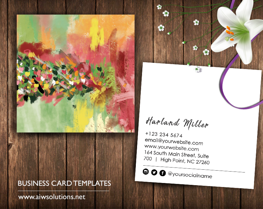 oil painting namecard template