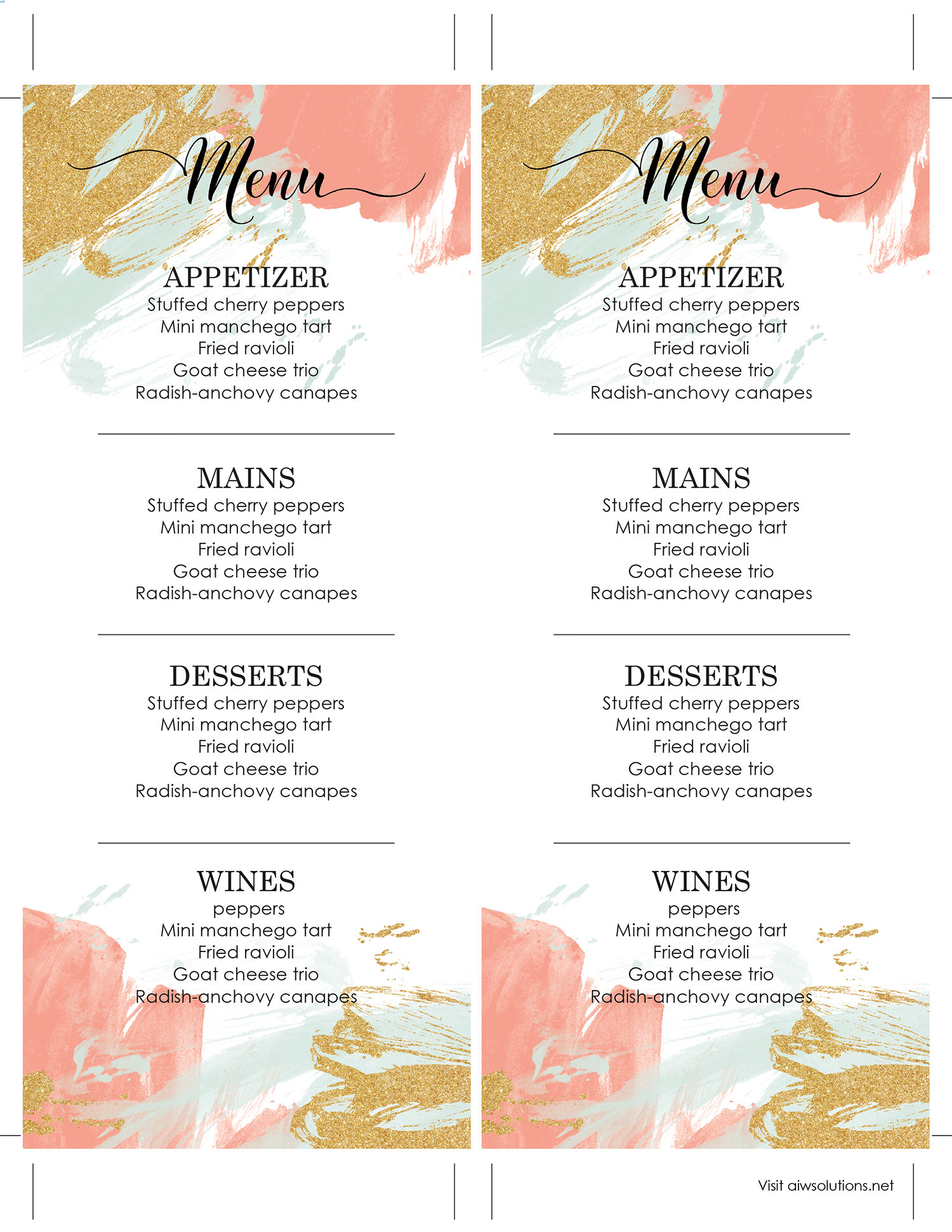 wine list template free word - Akba.greenw.co