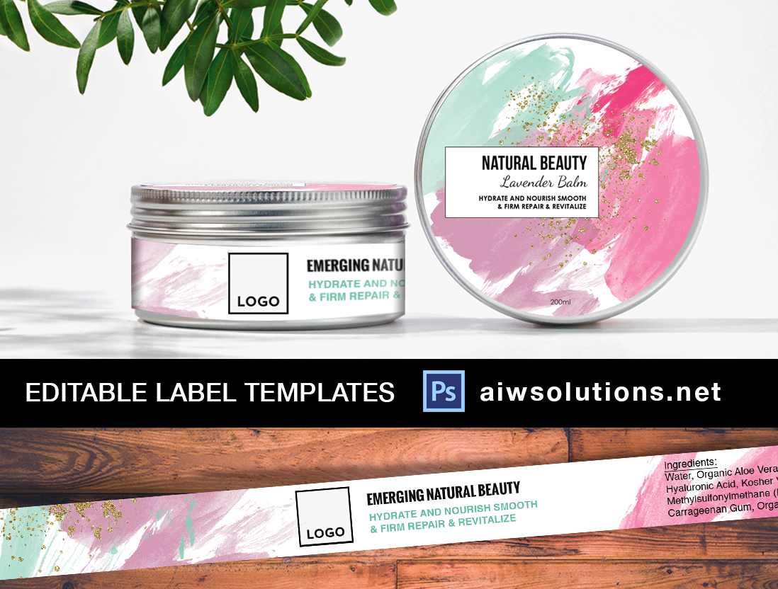 Label template ID28 – Product Label Template