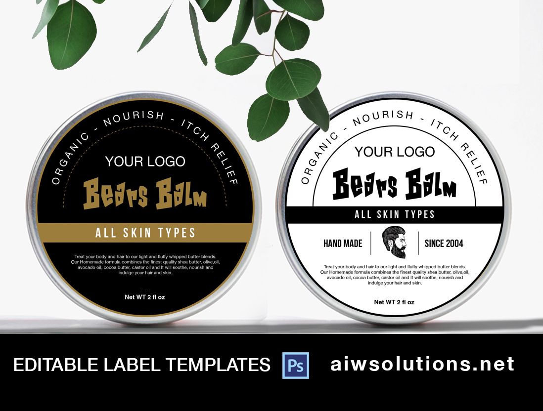 beard balm label