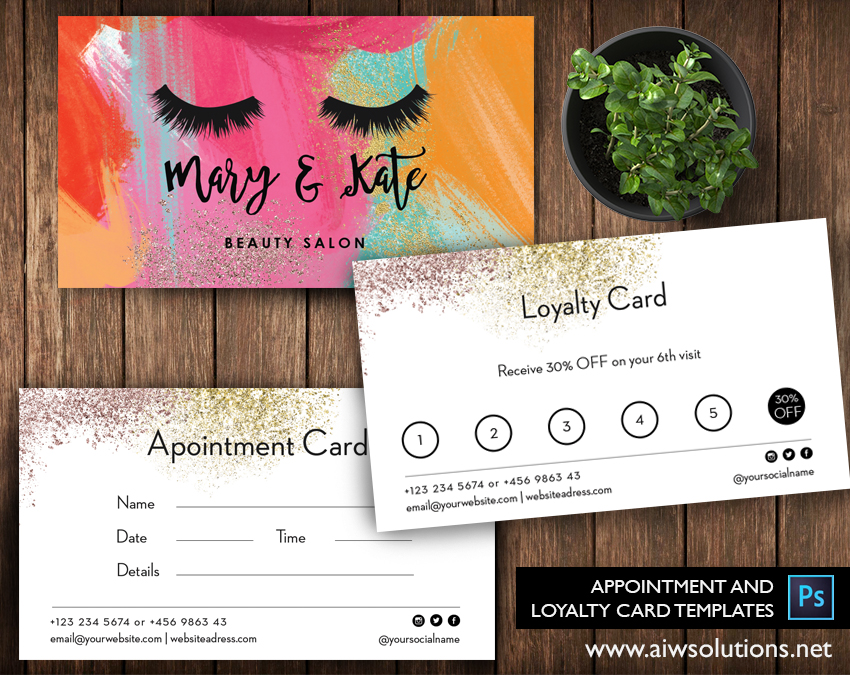 appointment cards loyalty card template