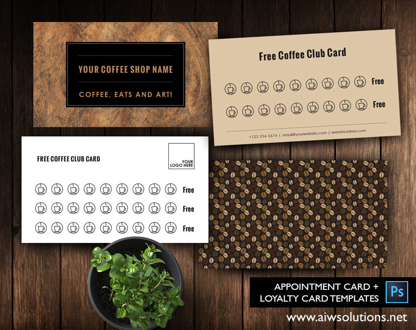 free coffee club card