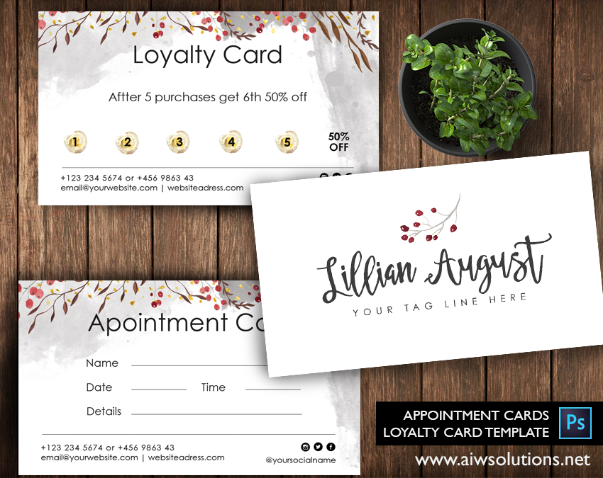 water coulor Loyalty card