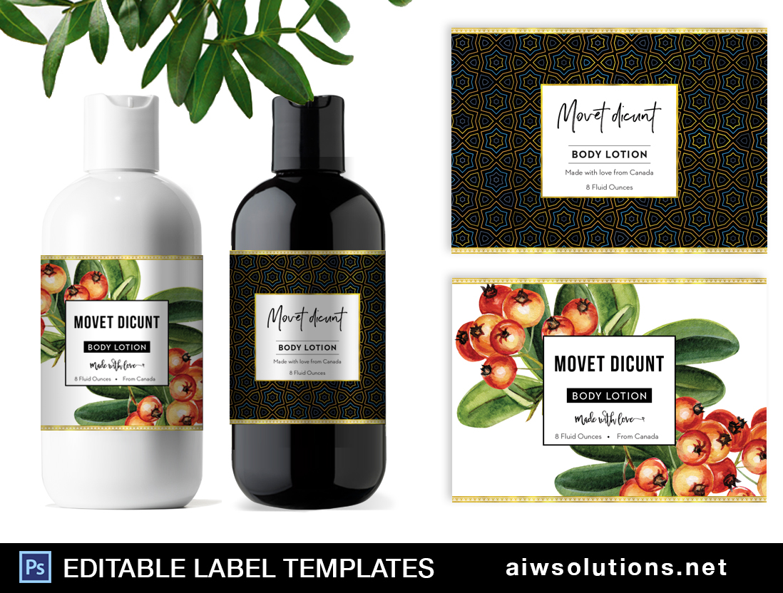body lotion label template id36