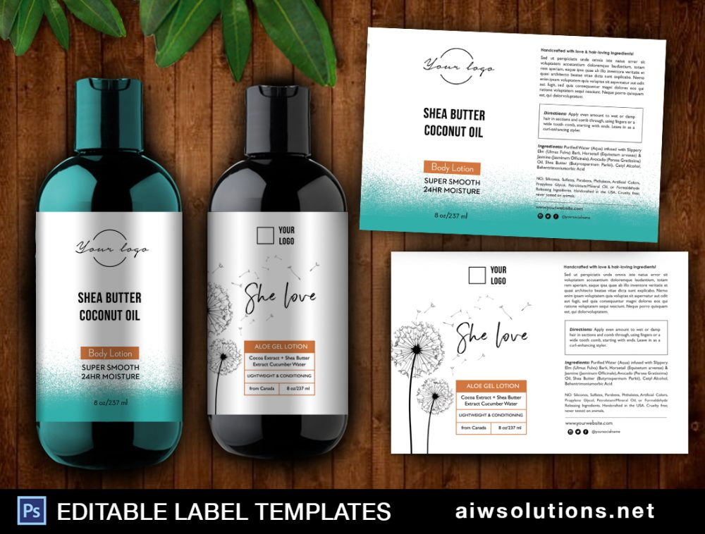 hand care label template aiwsolutions