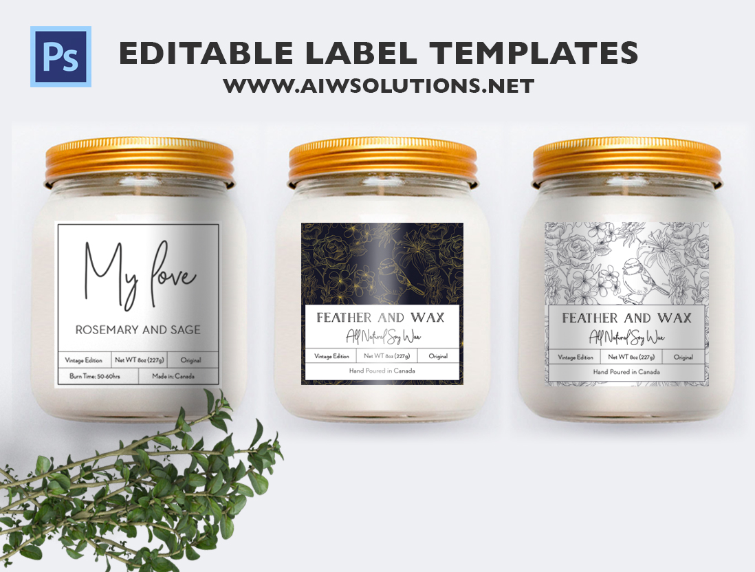 Candle Label Template ID40 | aiwsolutions