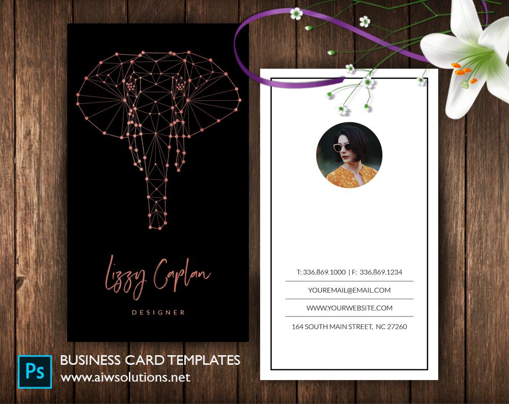 Elephant Head constellation namecard template