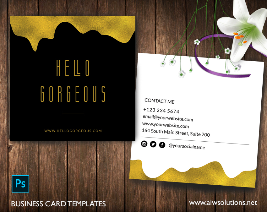 black and gold namecard template
